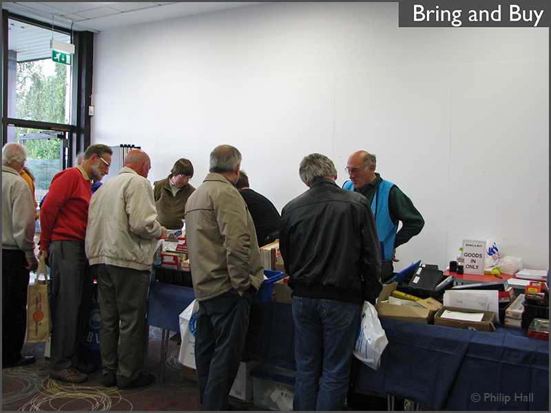 The crowd around the Bring & Buy stand at Scaleforum 2010