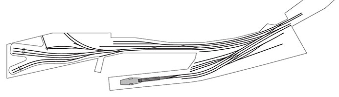 Burntisland track diagram