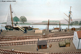 Model railway layout - Coombe Wharf